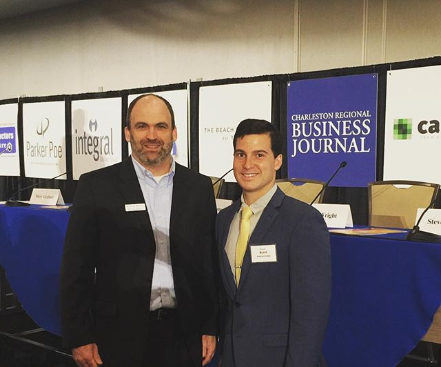 Founder/President, Ryan J. Brant with Robert Reilly of @crbjnews for the Charleston Regional Business Journal Power Breakfast.  Great way to kick off a quick 24 hour trip to Charleston for meetings discussing the foundation's footprint in Charleston, new programs and next years Bourbon Bowties & Cigars Fundraiser on May 18th. Make sure to mark you calendar! #PositiveStrides #AnnapolisToCharleston #ProgrammaticSupport #AthletesHelpingAthletes #PowerBreakfast #CRBJ #Networking #Meetings #BBC_Charleston
