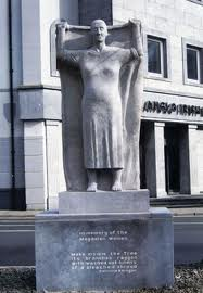 statue to women of magdalene laundries galway