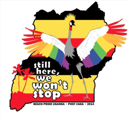 Uganda Pride logo 2014. Yesterday the Anti Homosexuality Act of 2014 was overturned in a constitutional court of Uganda, thanks to the public efforts of many people who have put their lives on the line.
