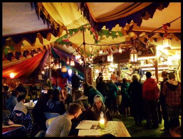 This is the Tiny Tea Tent. It is a part of the cosy part of heaven.