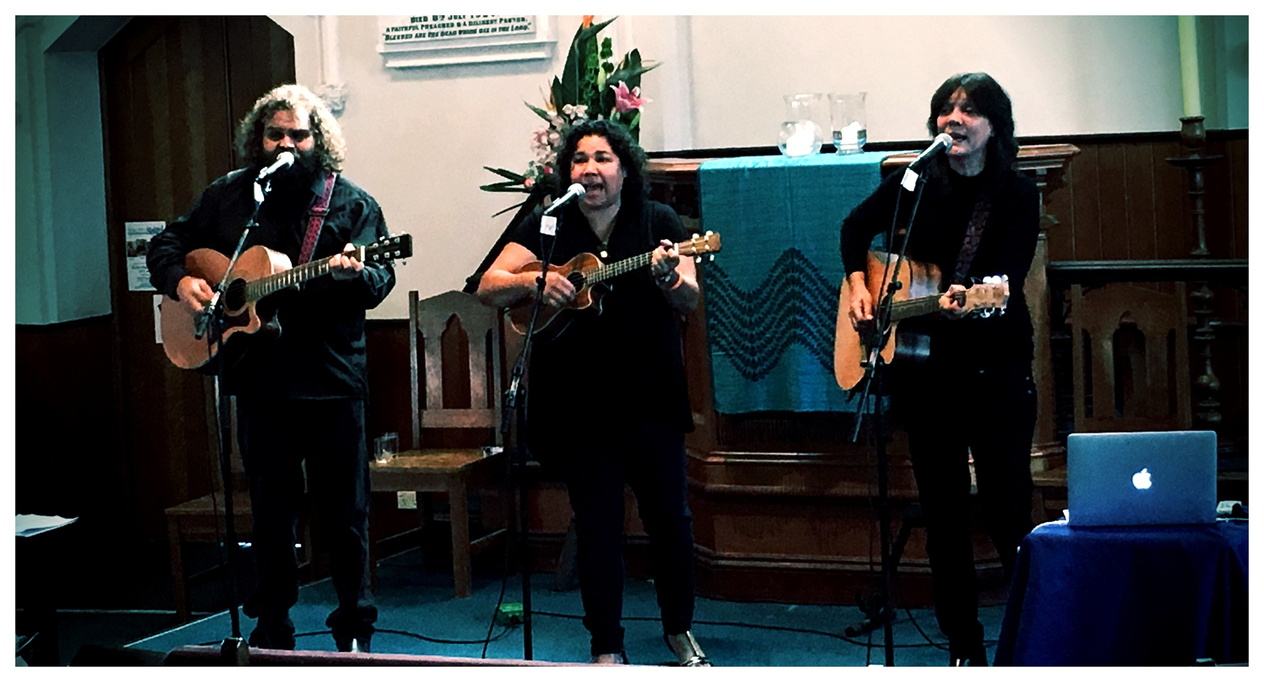 Jessie Lloyd and friends at the Sacred Edge Festival organised by Queenscliff Uniting Church.