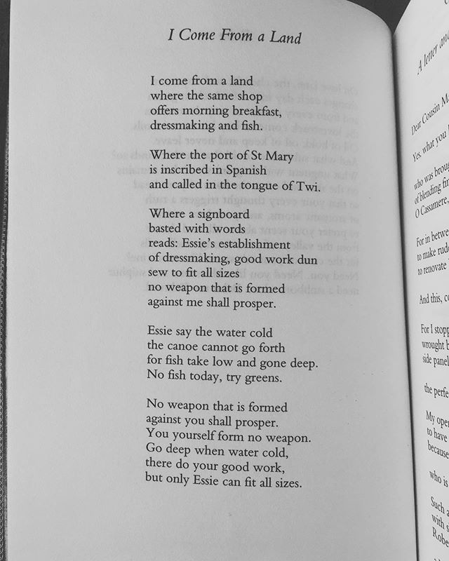 "'no weapon that is formed/ against me shall prosper' • • Lorna Goodison, from ""Goldengrove: New and Selected Poems"" (Carcanet, 2006)"
