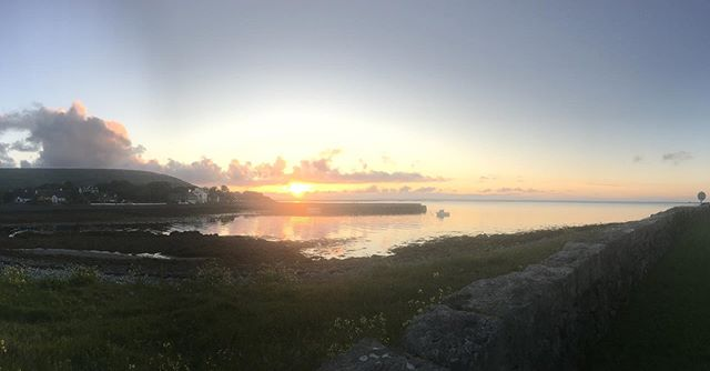 The bay at Ballyvaughan Co. Clare tonight as the sun was going down. No filter.