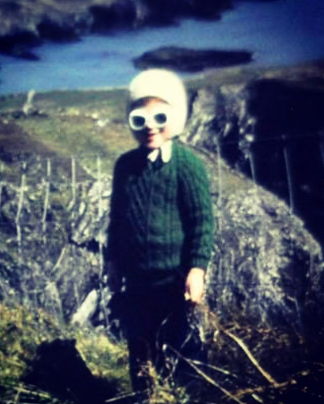 I will never live this photo down.  God almighty, I look like a demented leprechaun.  It was the late 70s.