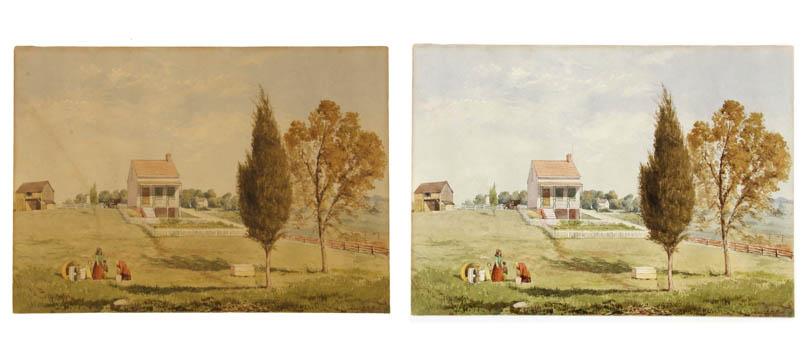 JOHN HENRY HILL_UNTITLED (HOUSE WITH YARD AND FIGURES)_AT.jpg