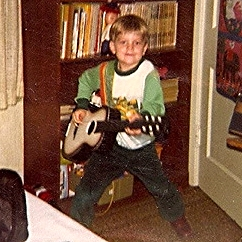 Neil Bartoleit, rocking out one of his early hits. Wooster, OH 1980
