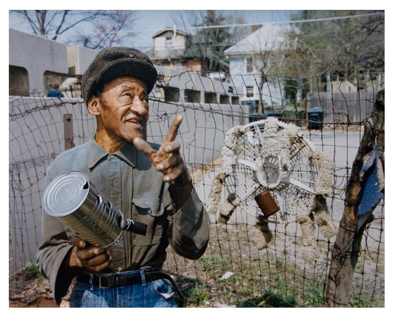 Hawkins Bolden in his backyard  (Memphis, TN)
