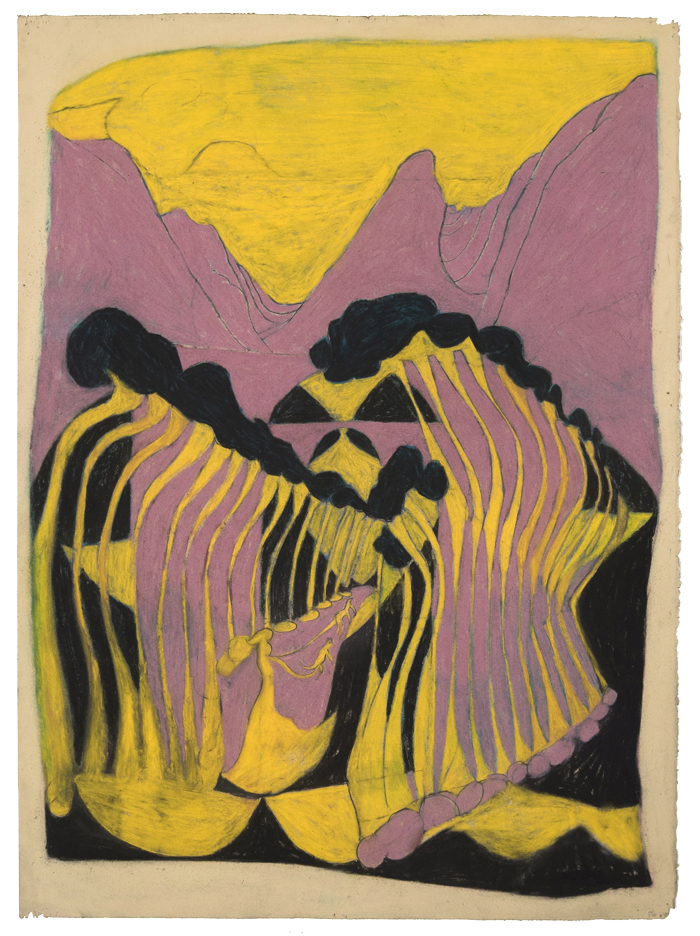 Kyle Breitenbach,  Untitled , 2016, pastel on paper