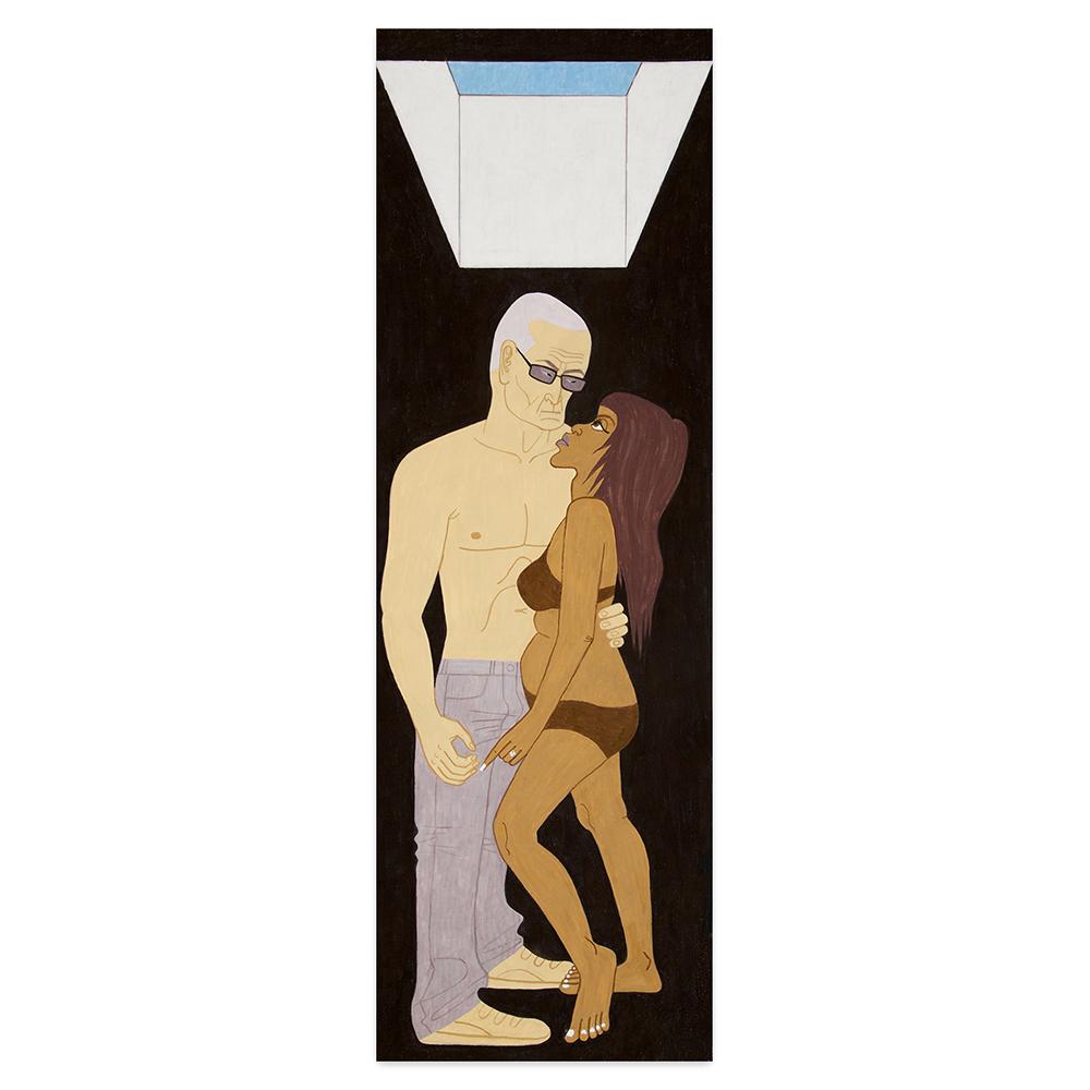 Yves Tessier - Couple Standing Under a Skylight