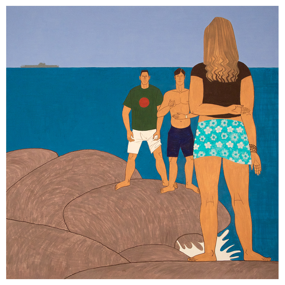 Yves Tessier - 3 Youths on the Jetty