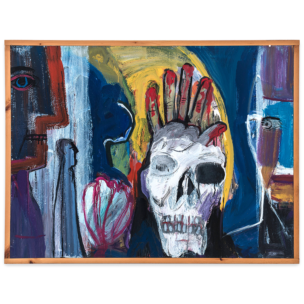Hak Vogrin - Skull with Bloody Hand