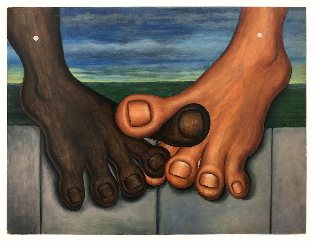 Bernard Gilardi, Untitled (big toes intertwined)