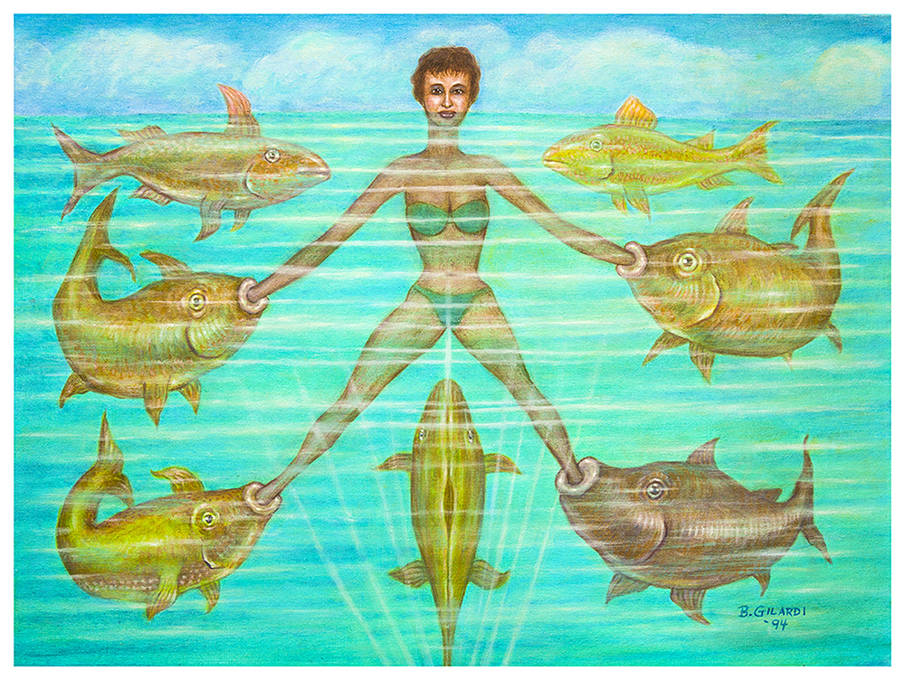 Bernard Gilardi, Untitled (woman with fish)