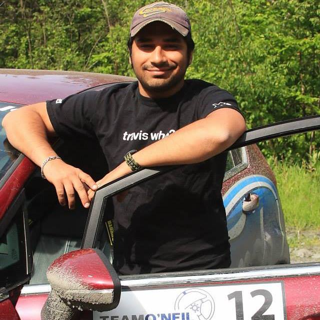 Aakash at  Team O'Neil Rally School  in 2014
