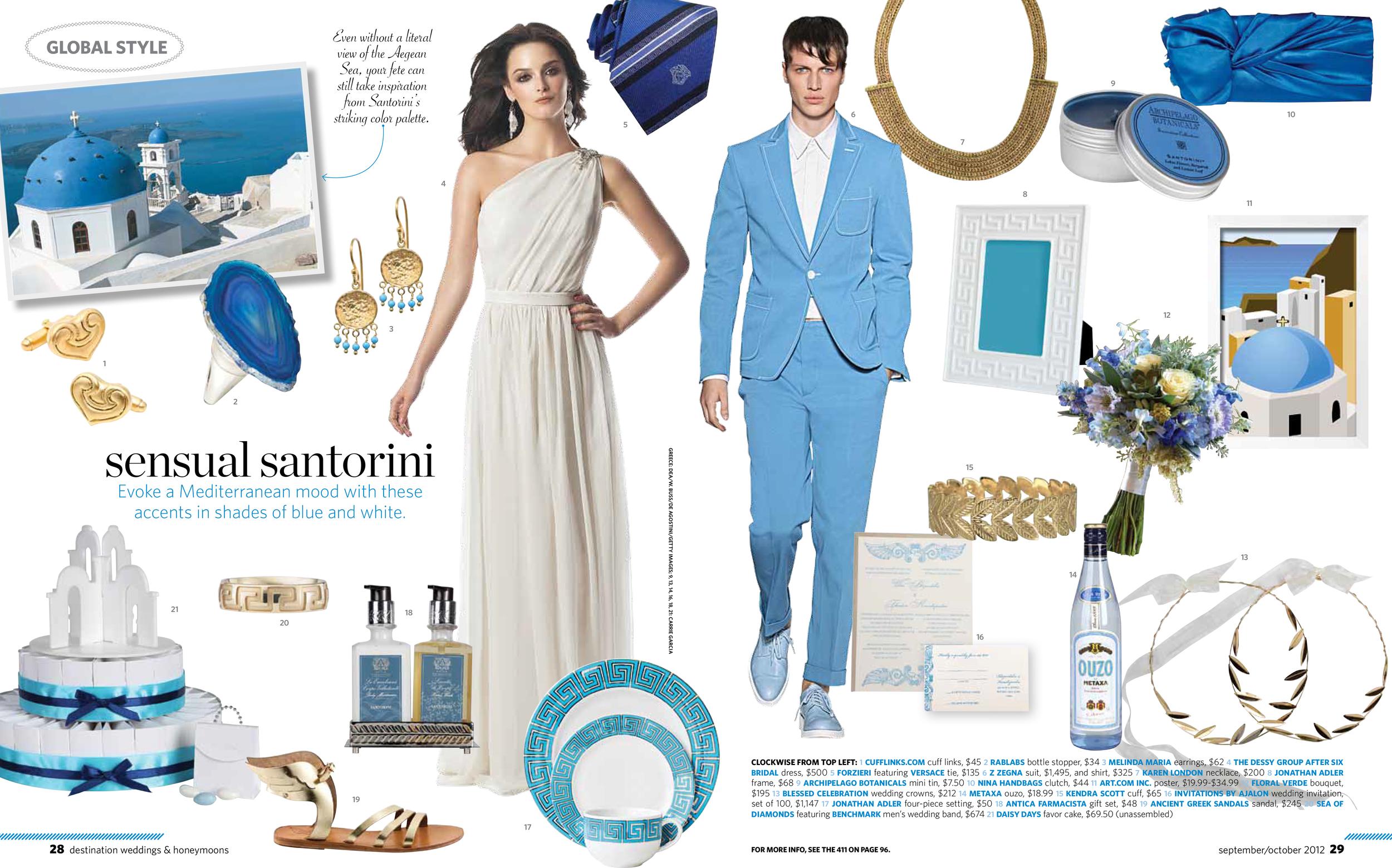 Destination Weddings & Honeymoons Magazine , September/October 2012
