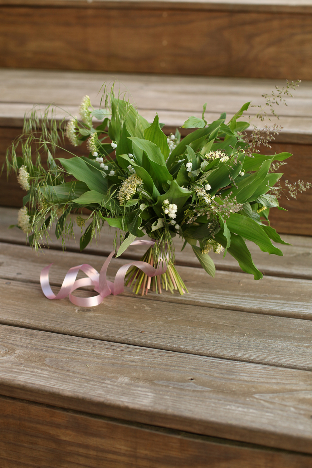 locally-sourced bouquet, by florist Floral Verde LLC in Cincinnati, Ohio; with lily of the valley, viburnum and grass