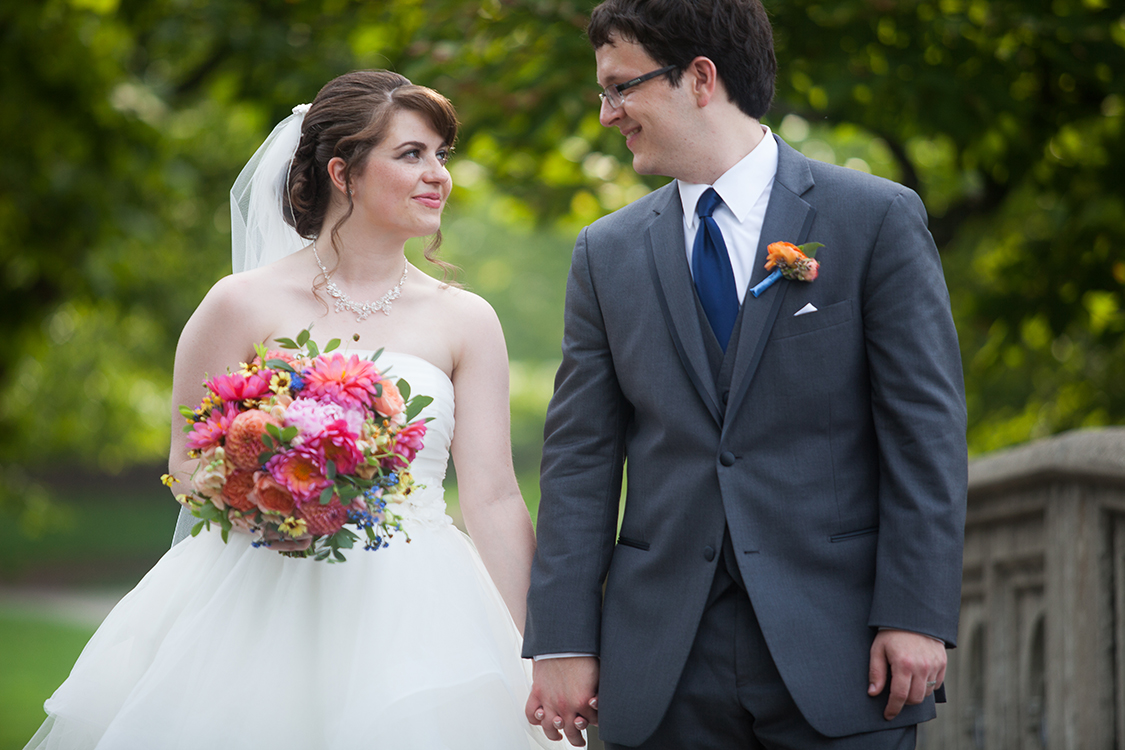 Wedding photos at the Eden Park, Cincinnati, Ohio. Flowers by Floral Verde LLC. Photo by Shelby Street Photography.