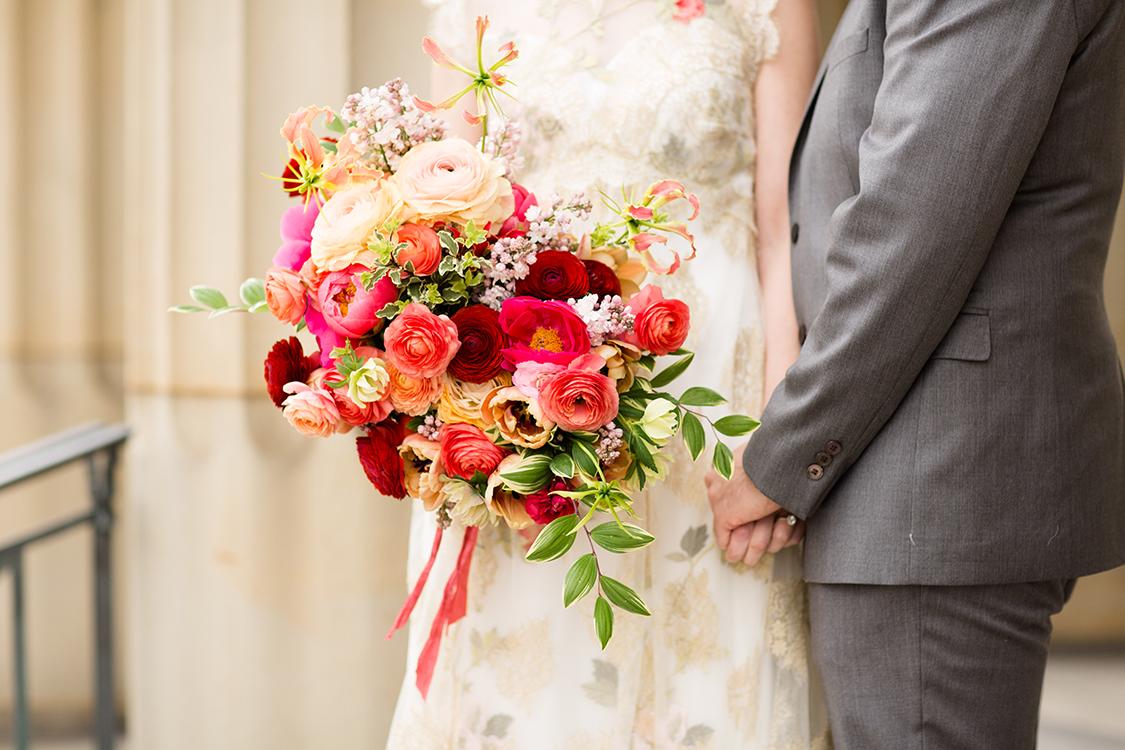 Photo by Leah Barry Photography, flowers by Floral Verde LLC Cincinnati, Ohio.