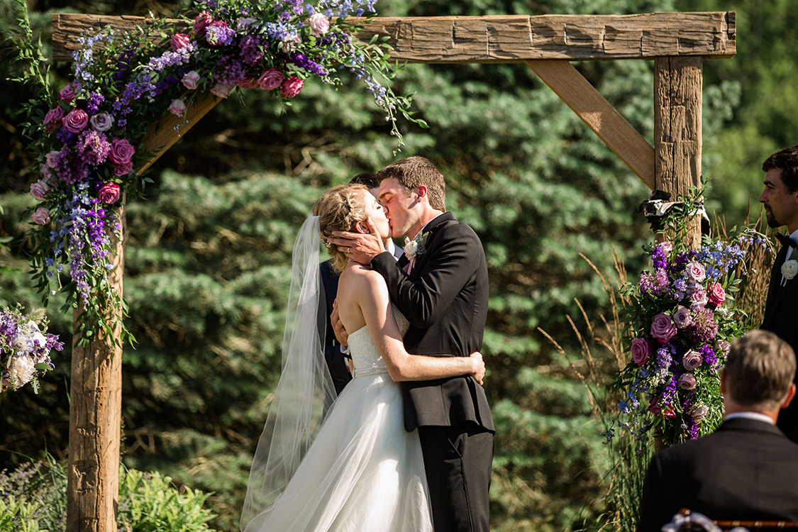 Wedding Ceremony at the French Park in Cincinnati, Ohio. Flowers by Floral Verde. Photo by Leah Barry Photography.