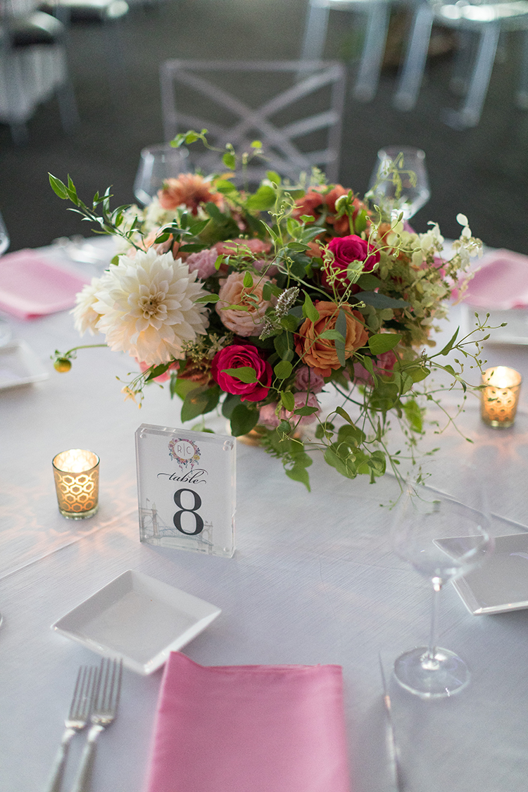Wedding Reception at Anderson Pavilion in Cincinnati, Ohio. Flowers by Floral Verde. Photo by 1326 Studios.