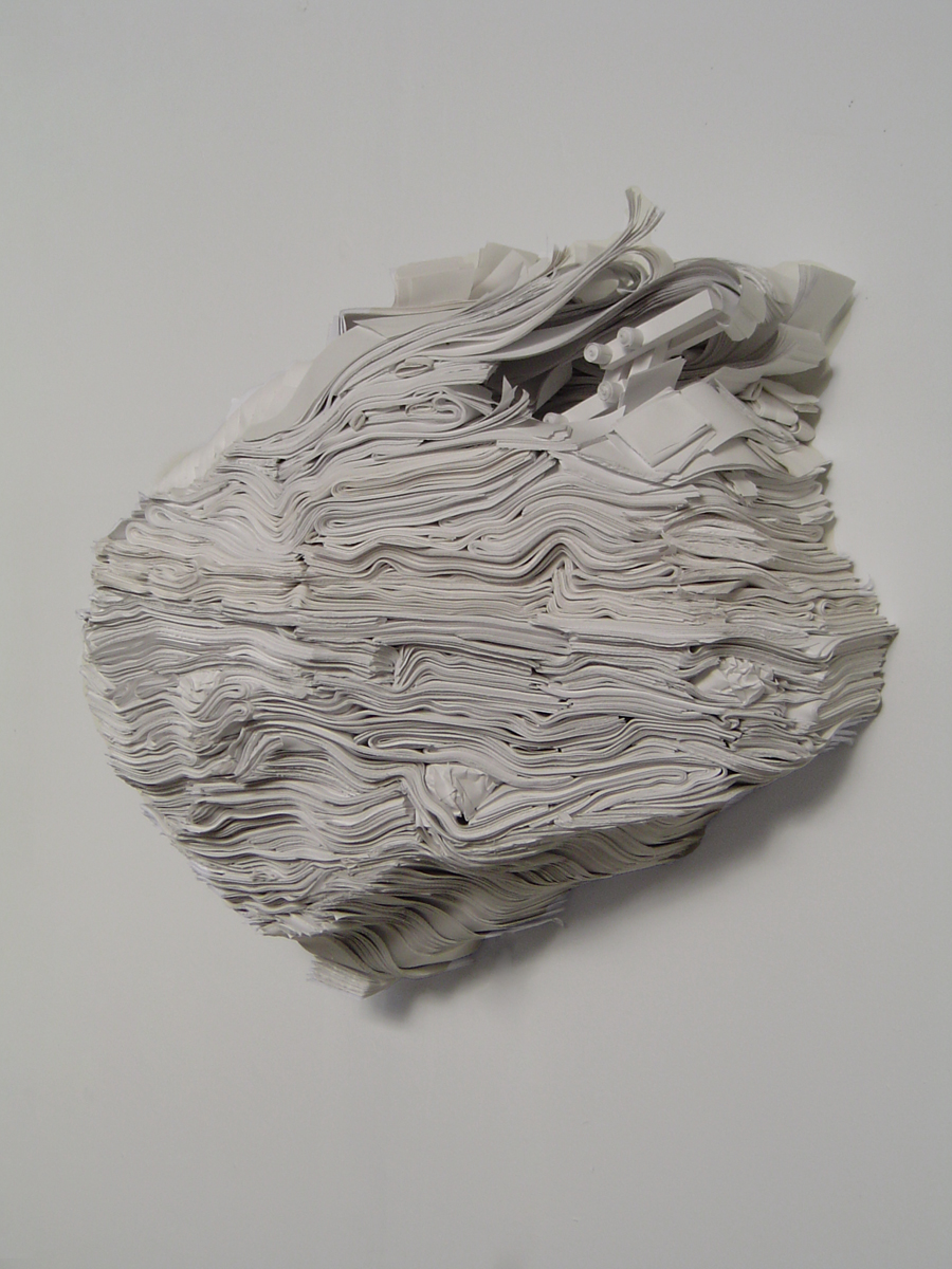 Getting Out , Paper, wood, motor, 2005