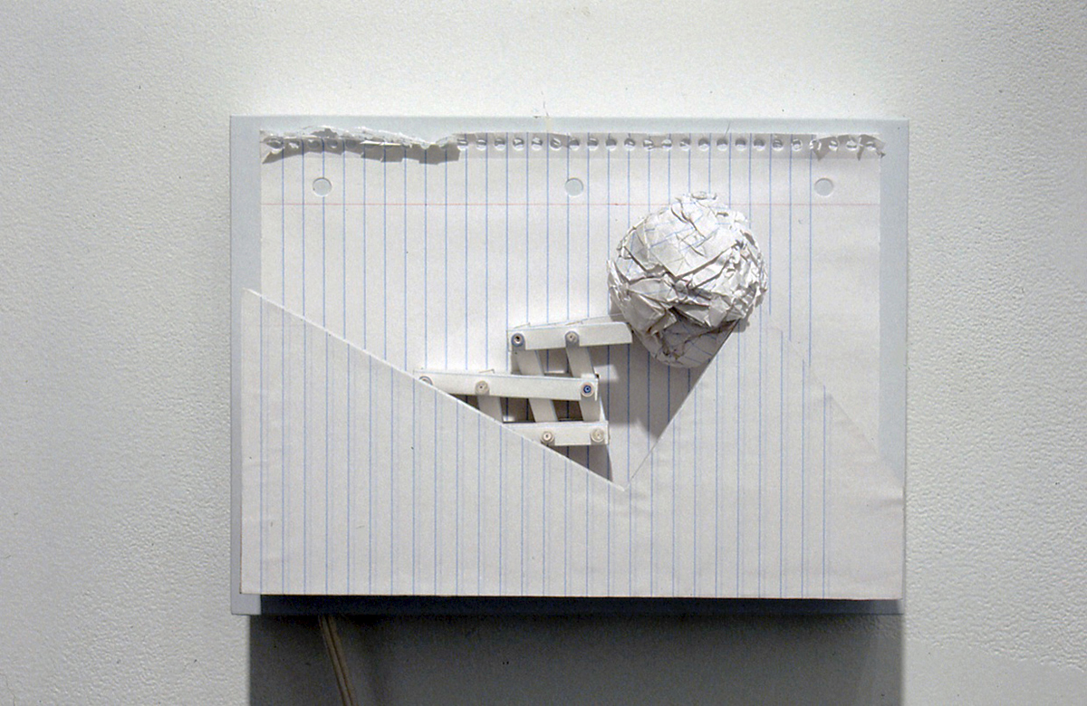 Notebook , Paper, wood, motor, 2006