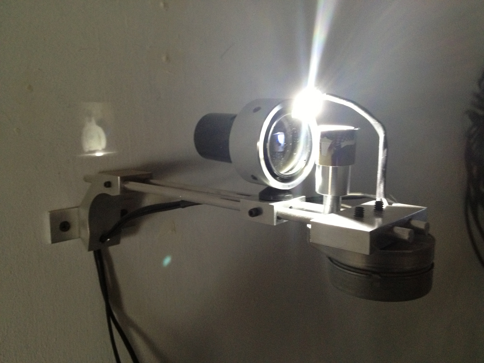 Something Very Small, the Center , Light, lens, photograph, motor, 2013