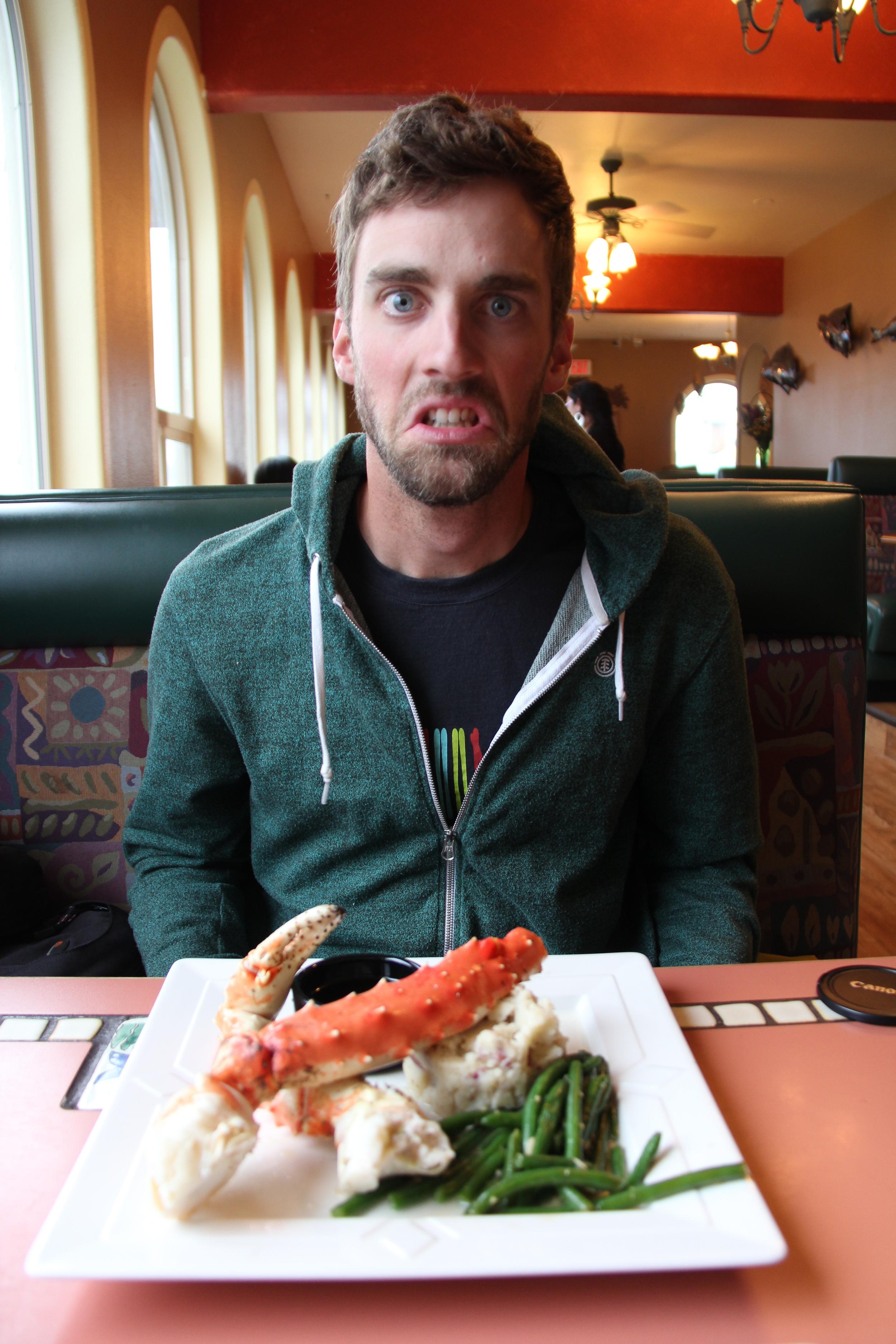 1lb of Alaskan King Crab looks something like this.