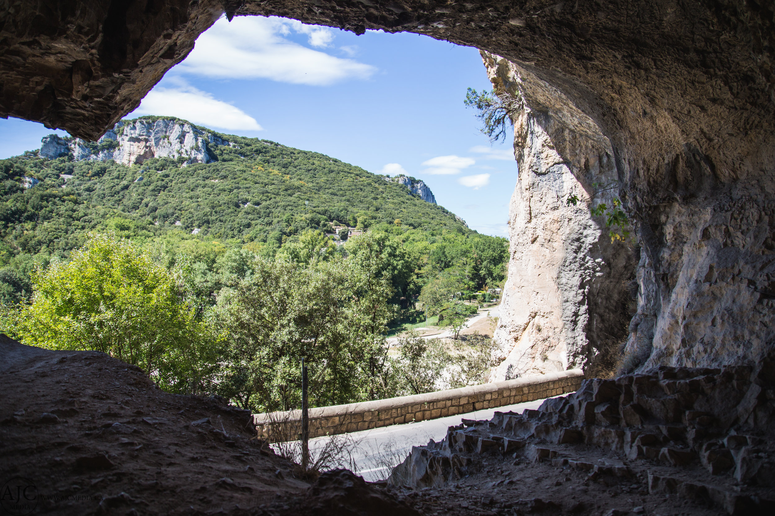 "These caves just off the road near Pont l""Arc served up some cool exploring."