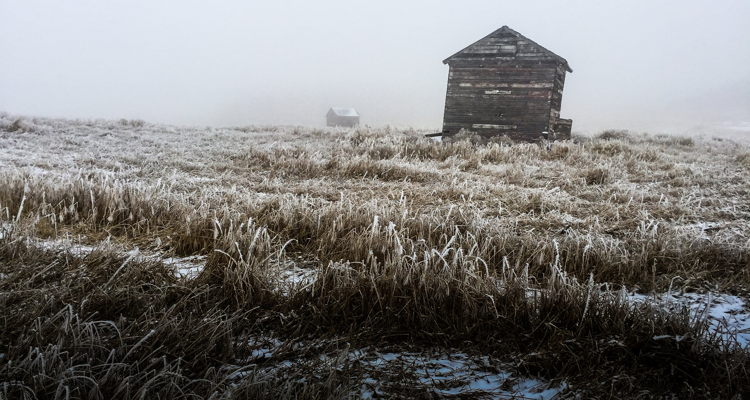 You could say that old decrepit buildings are the trademark of the prairies...