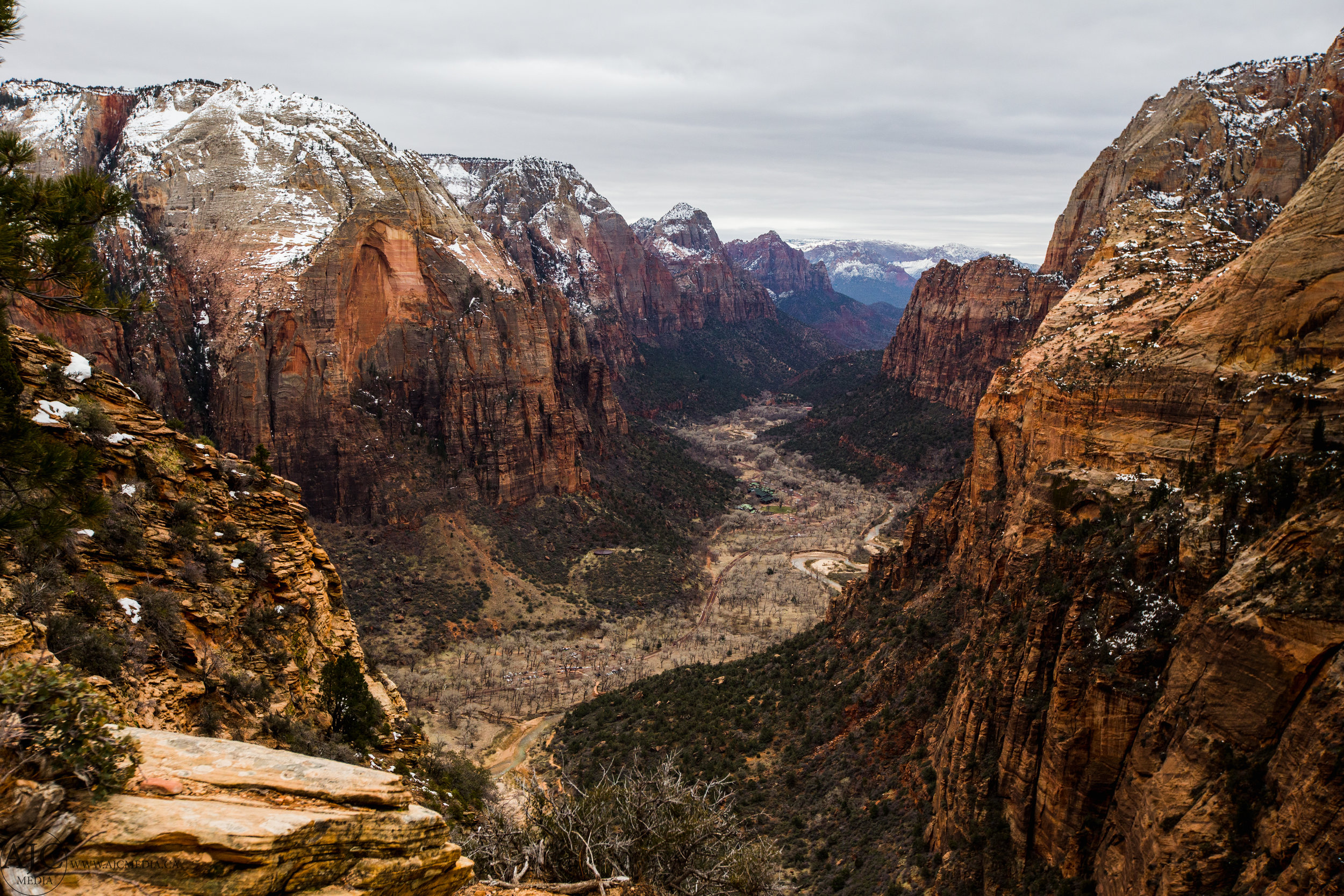 There it is, Zion National Park.