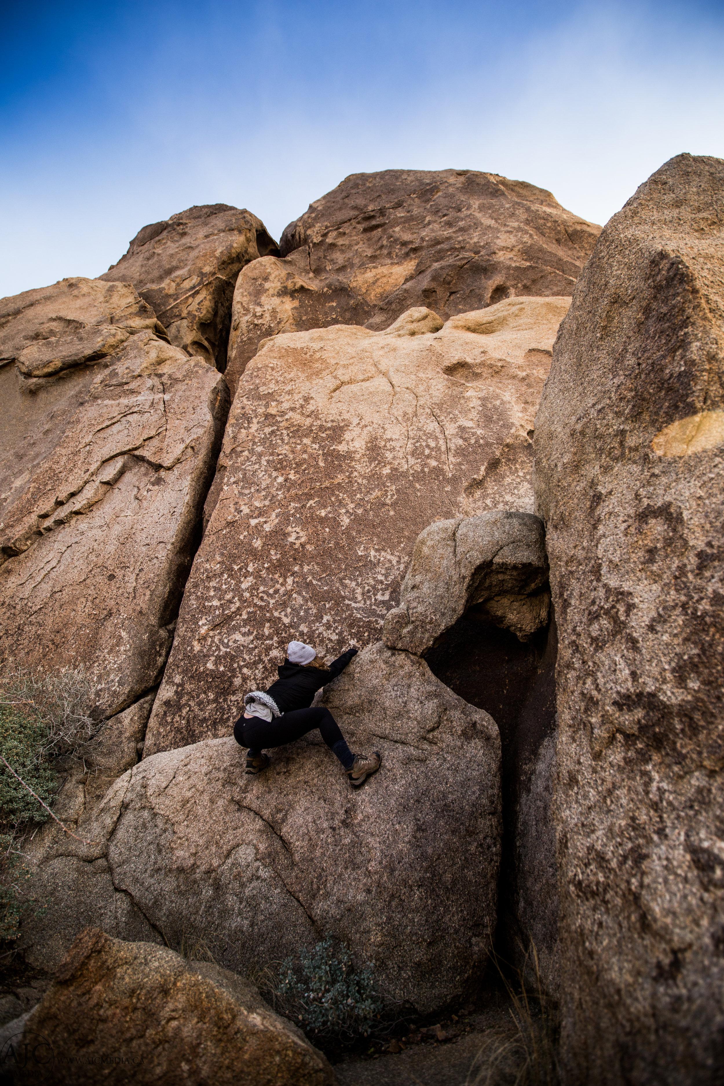 Alison attempting to 'boulder'