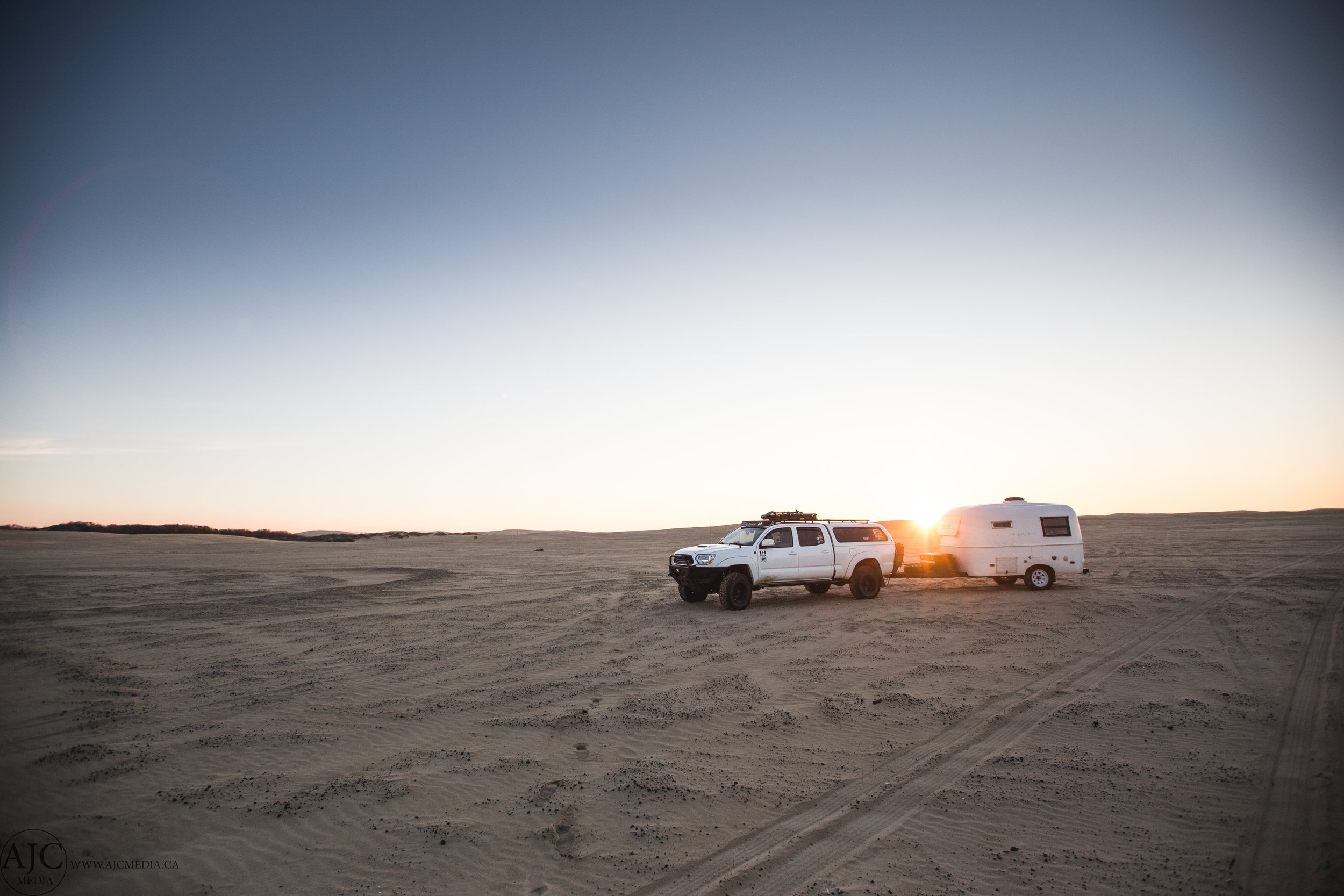 Just park in the middle of the massive sand plot beside the ocean...then call it home.