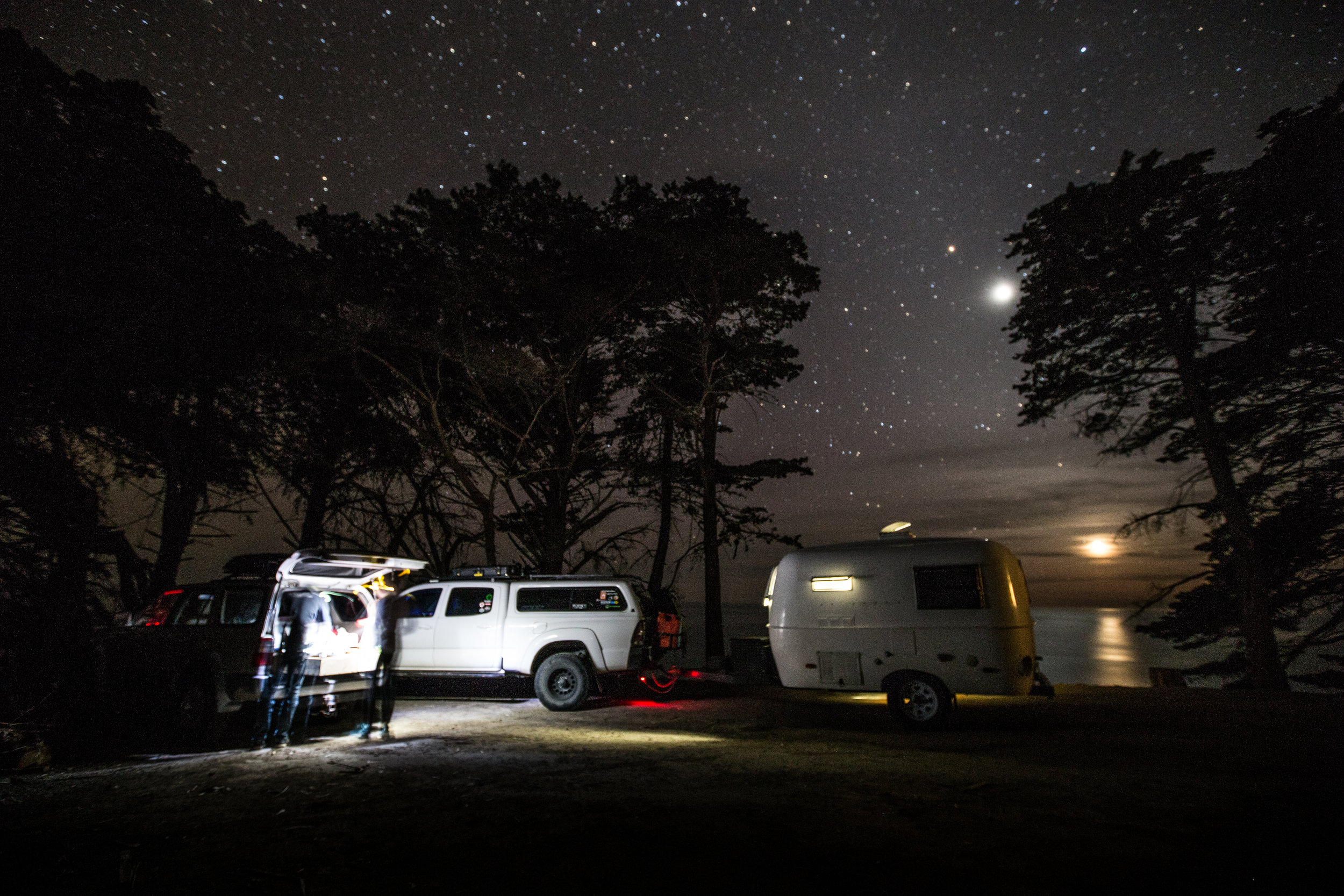 Camping spot: on point.