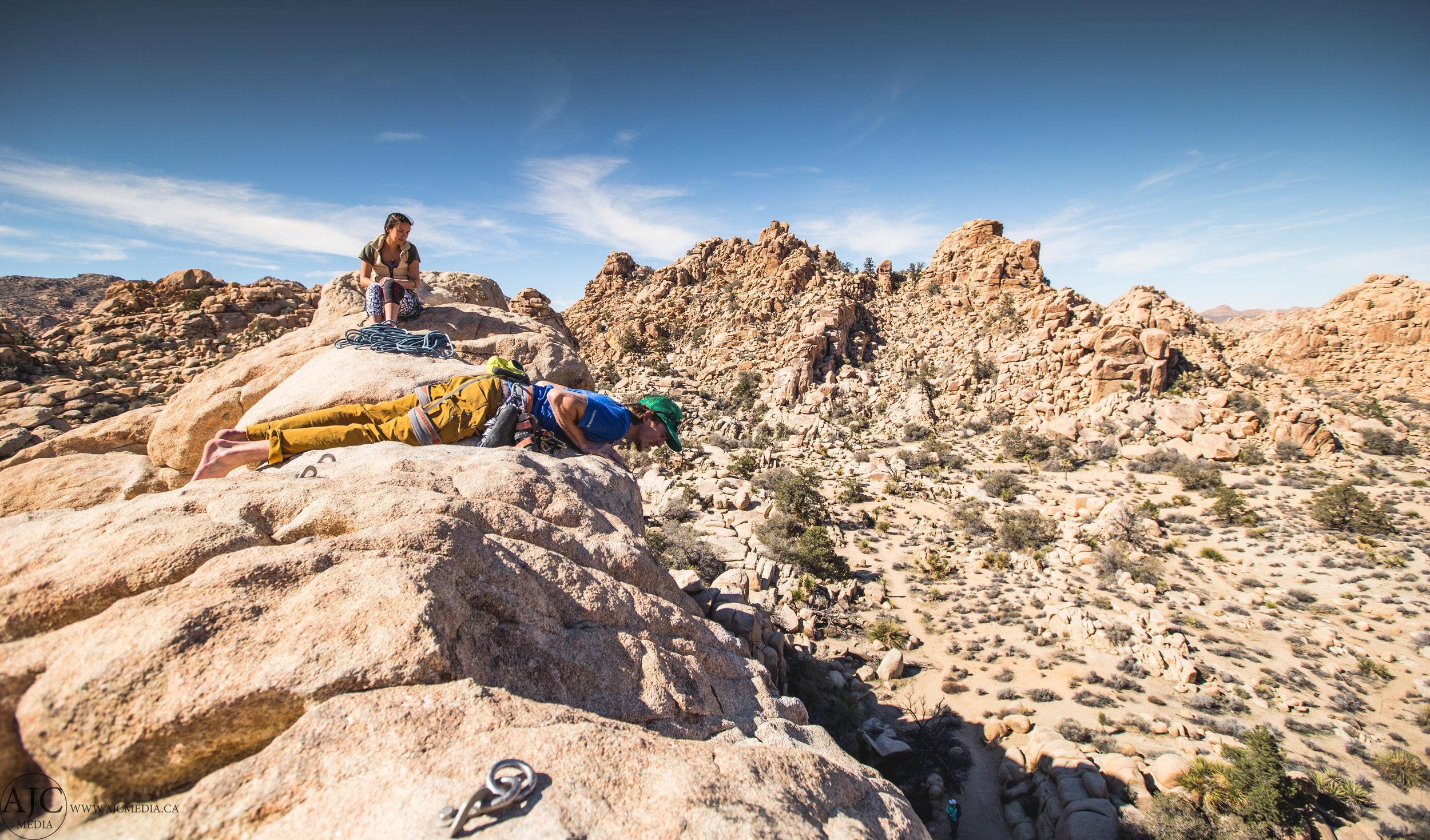 Our intrepid couple surveys their latest kill (climb).