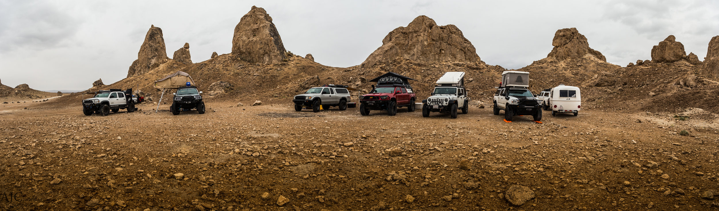The group grew in size over the night as rigs from all over California descended on Trona Pinnacles for the start of the Death Valley Trip.