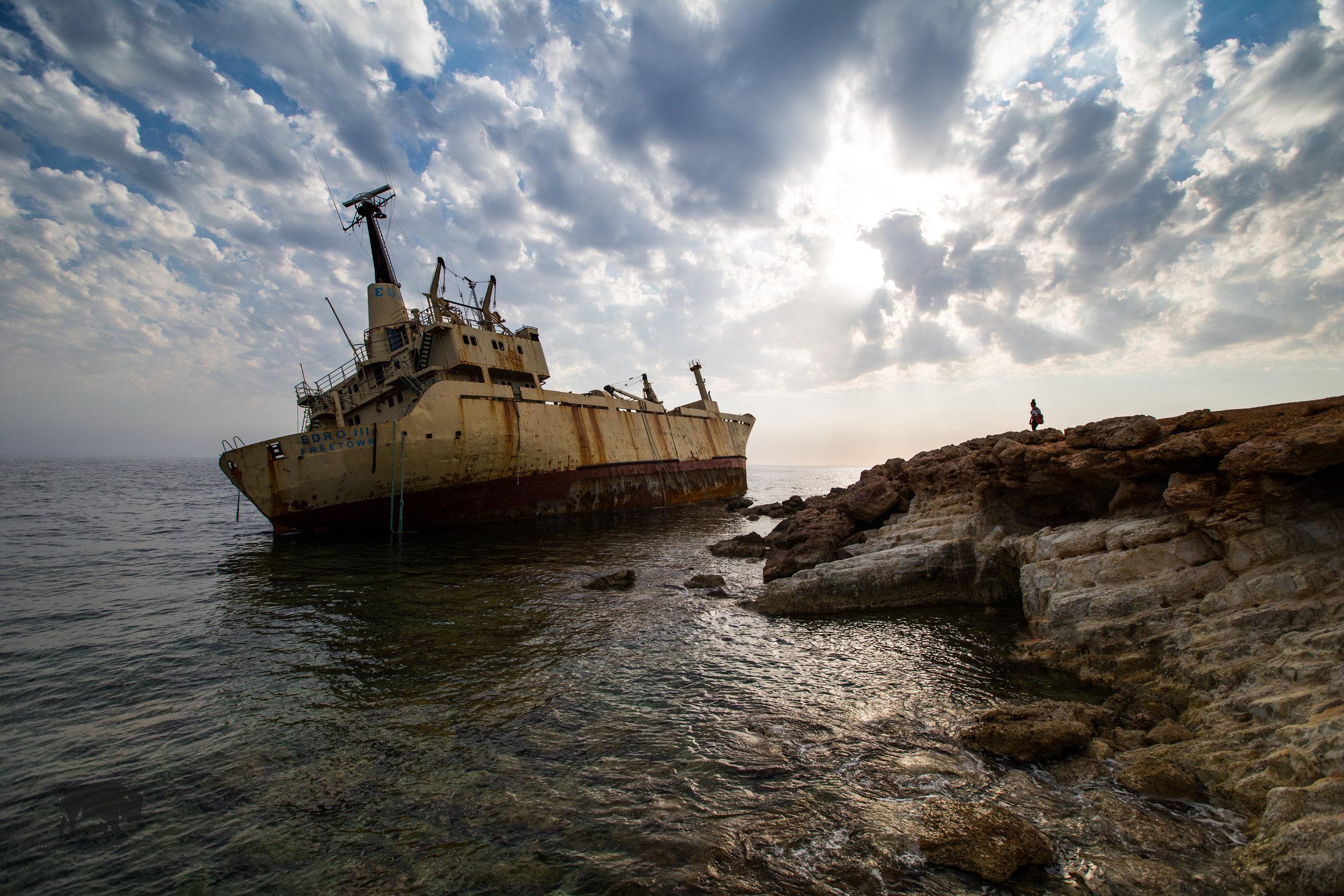 Sunsets and shipwrecks.