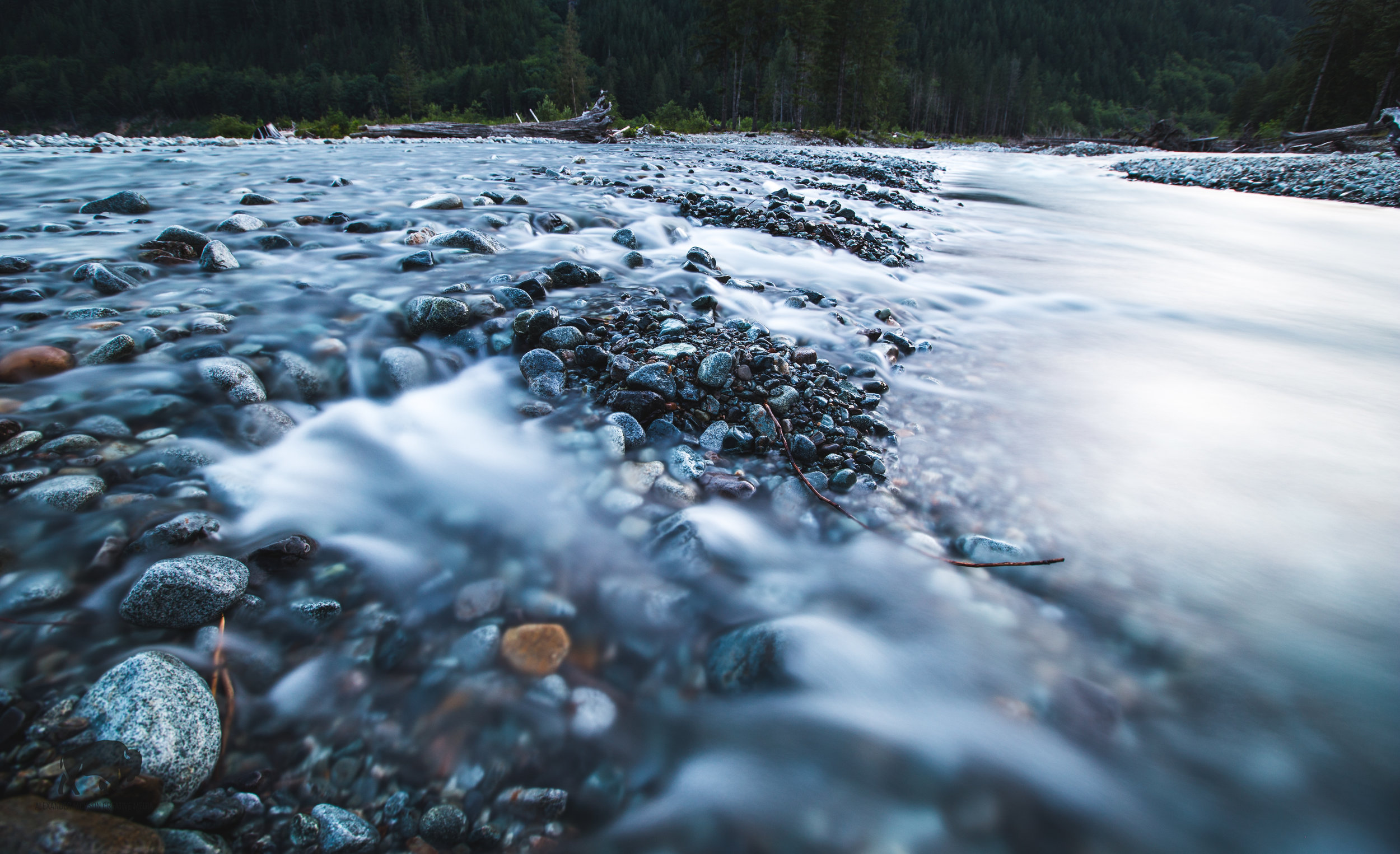 Standing in this water while shooting long exposures it the polar opposite to the heat we experienced during sunlight hours.