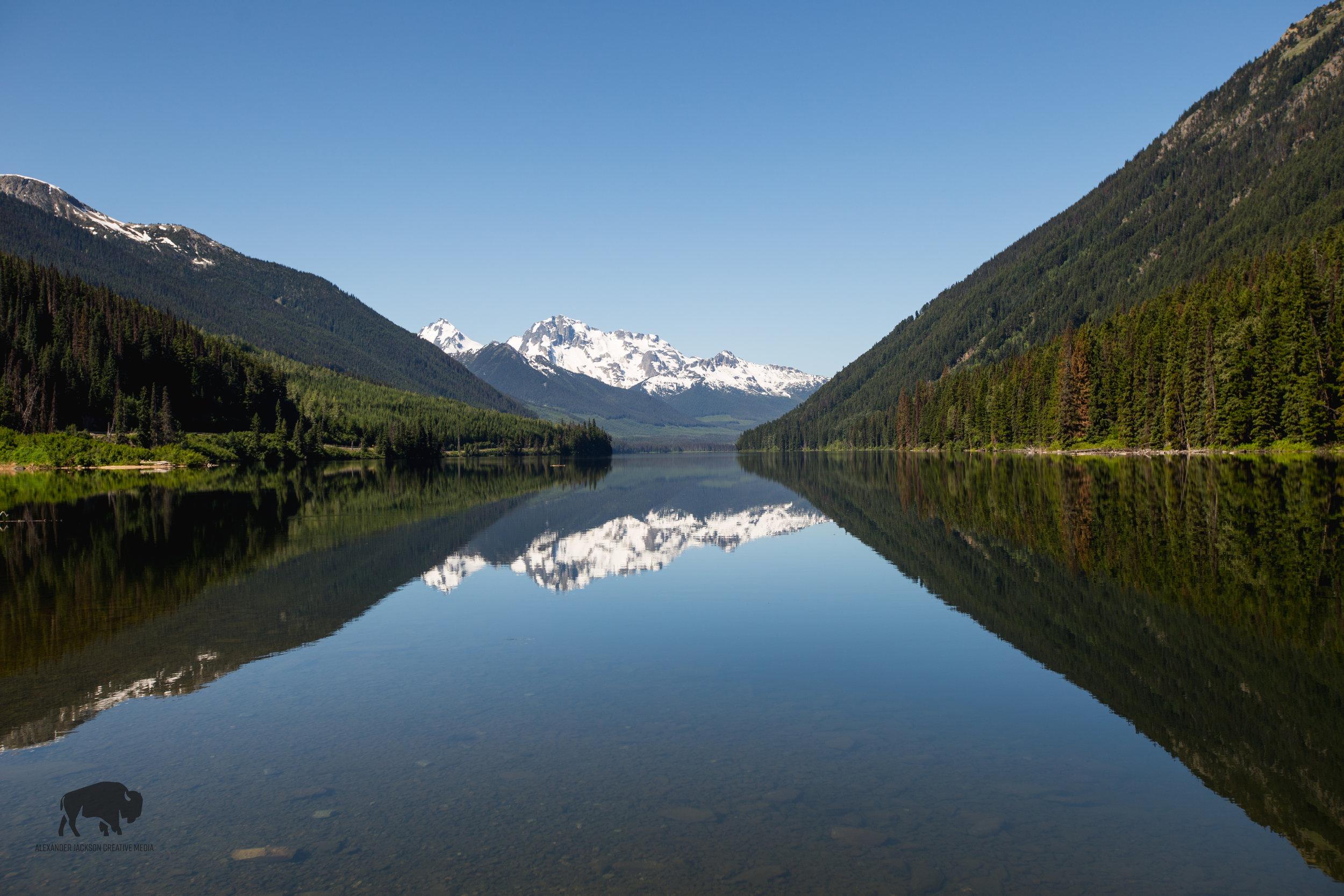 Duffey Lake, a good place to reflect...