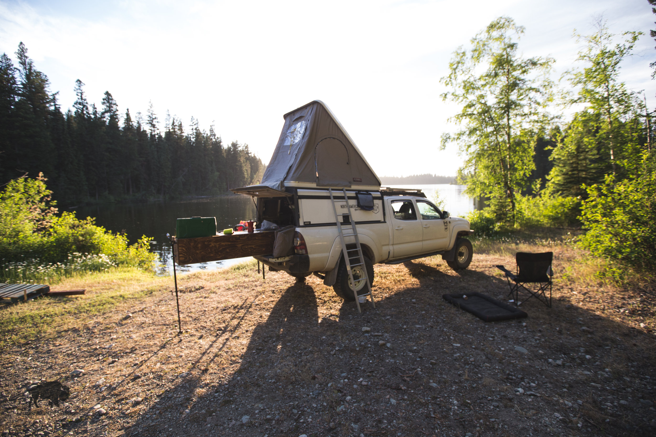 My campsite on the bank of Cuisson Lake.