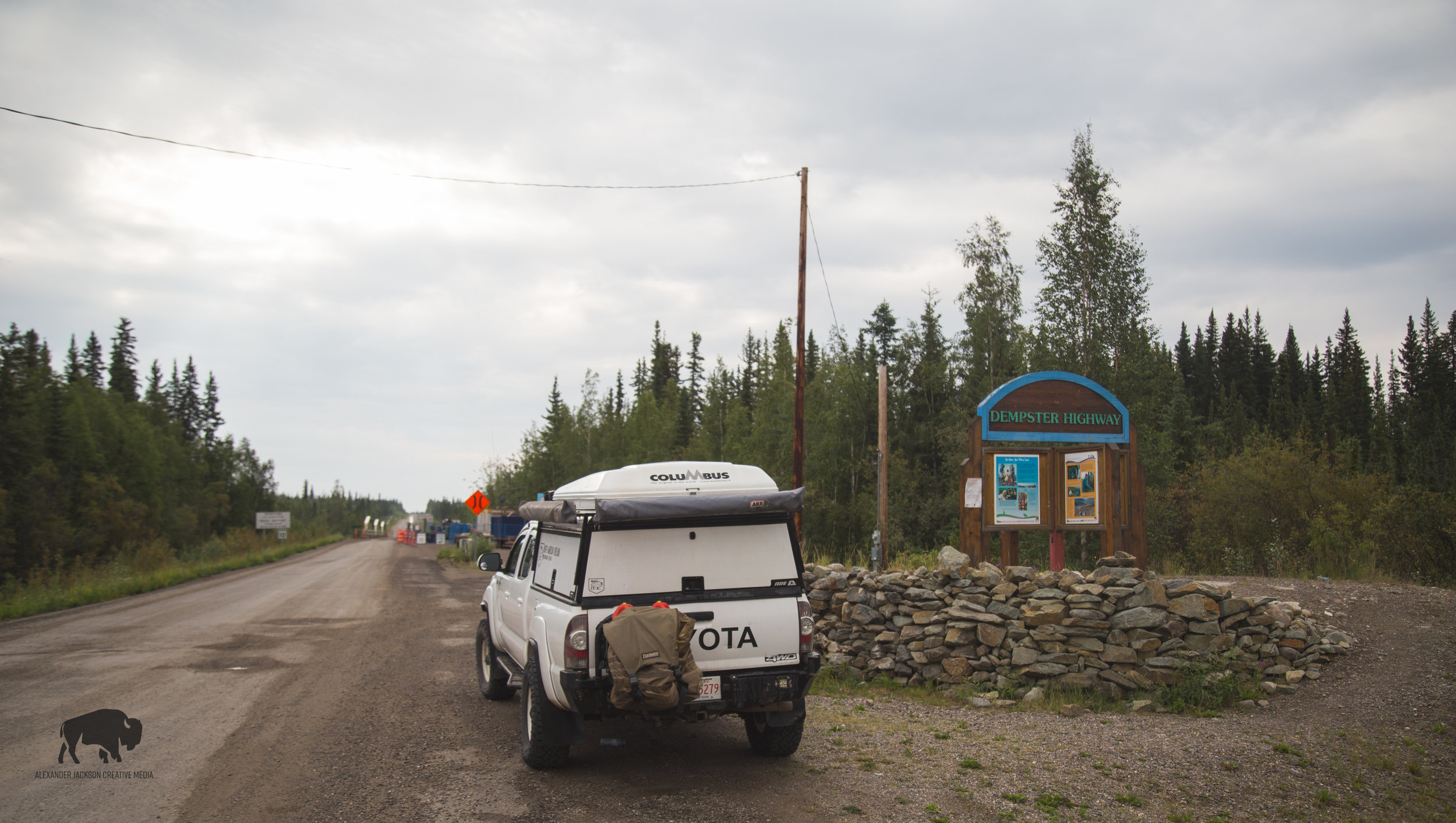 At the start of the Dempster Highway.