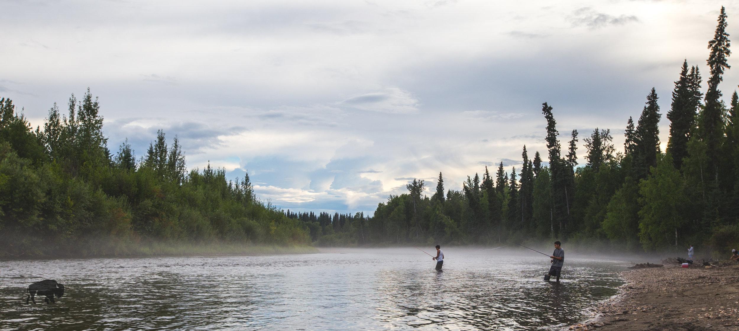 We weren't the only ones fishing.
