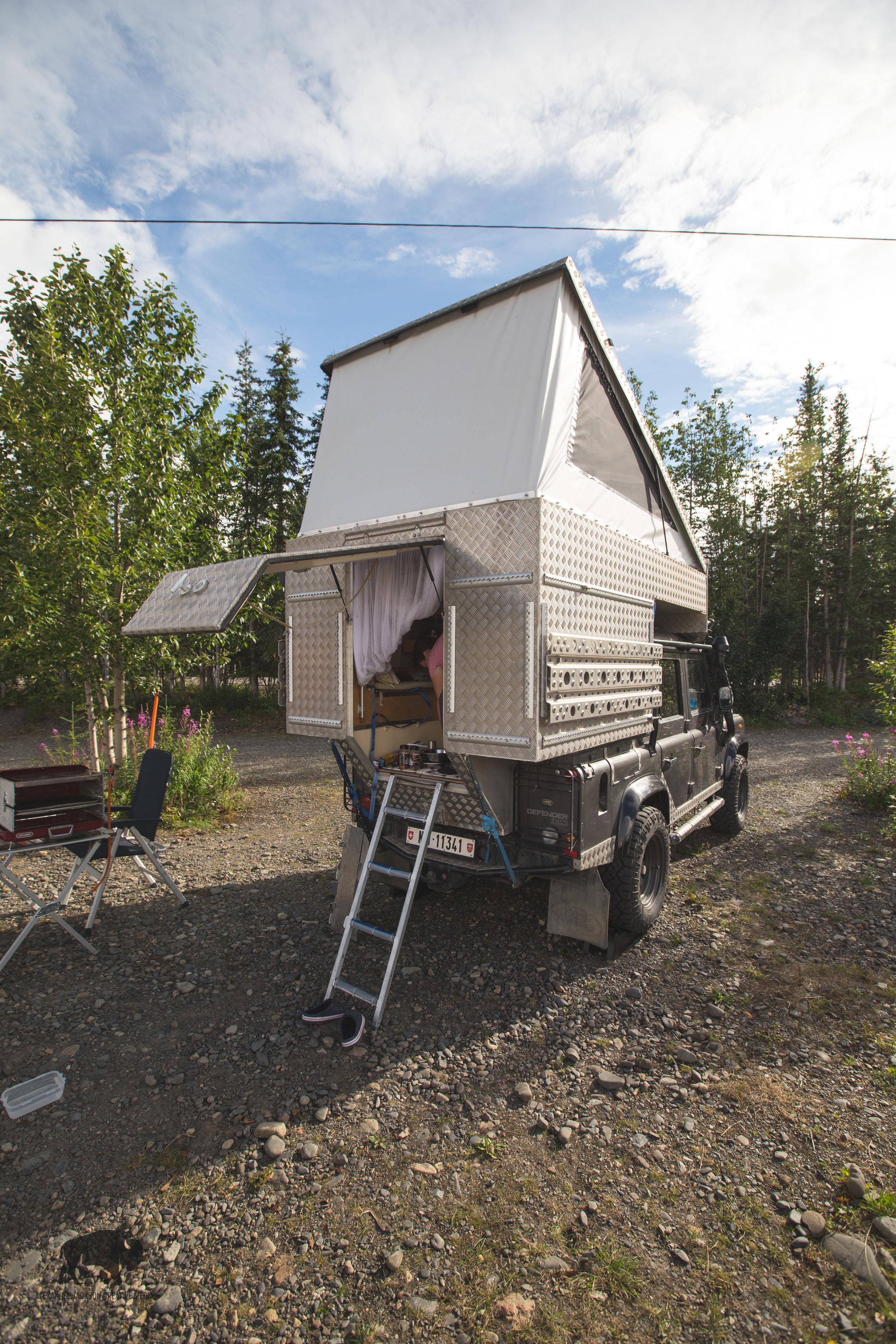 Marcel's rad custom camper.