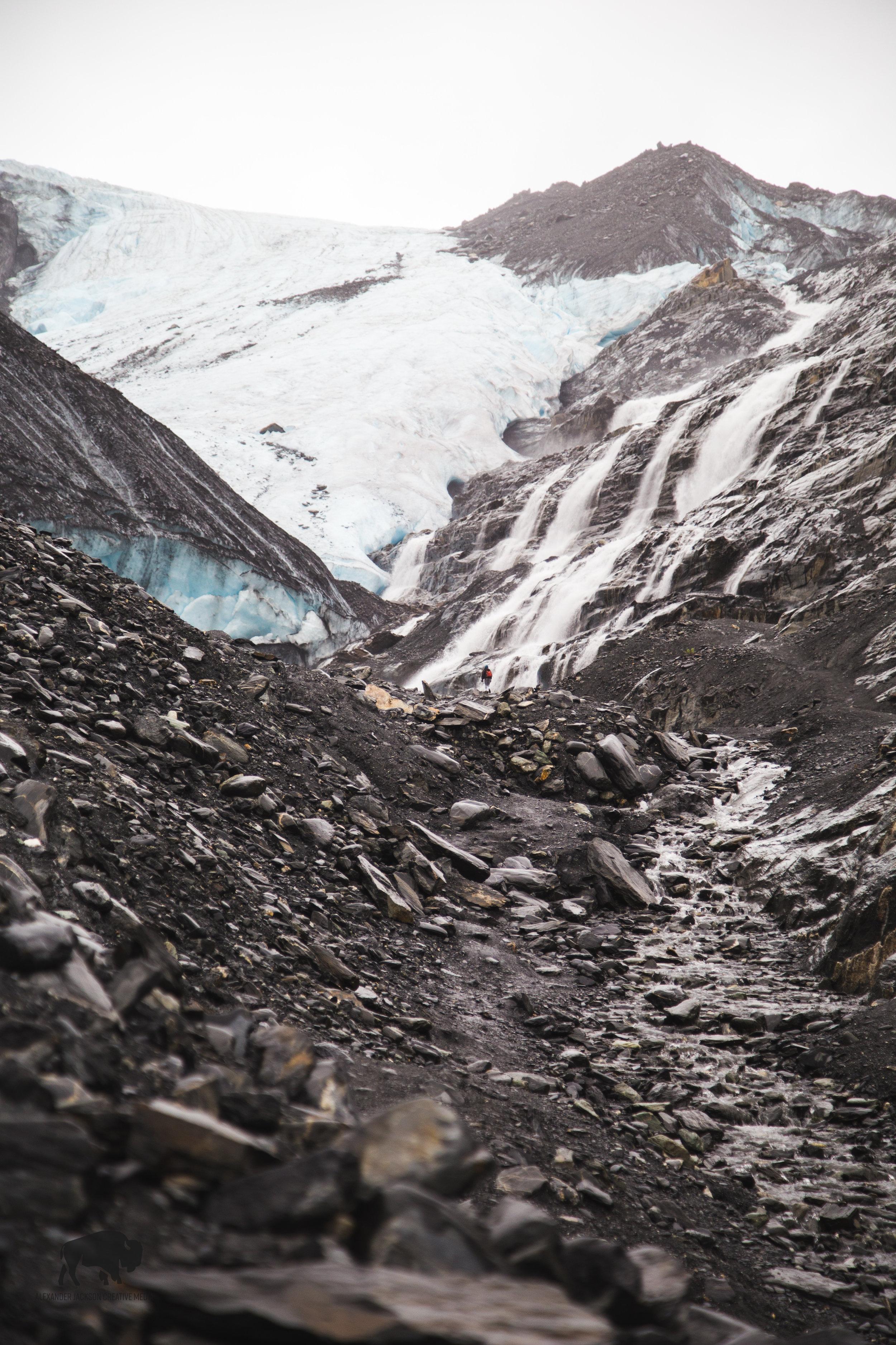 Approaching Worthington Glacier