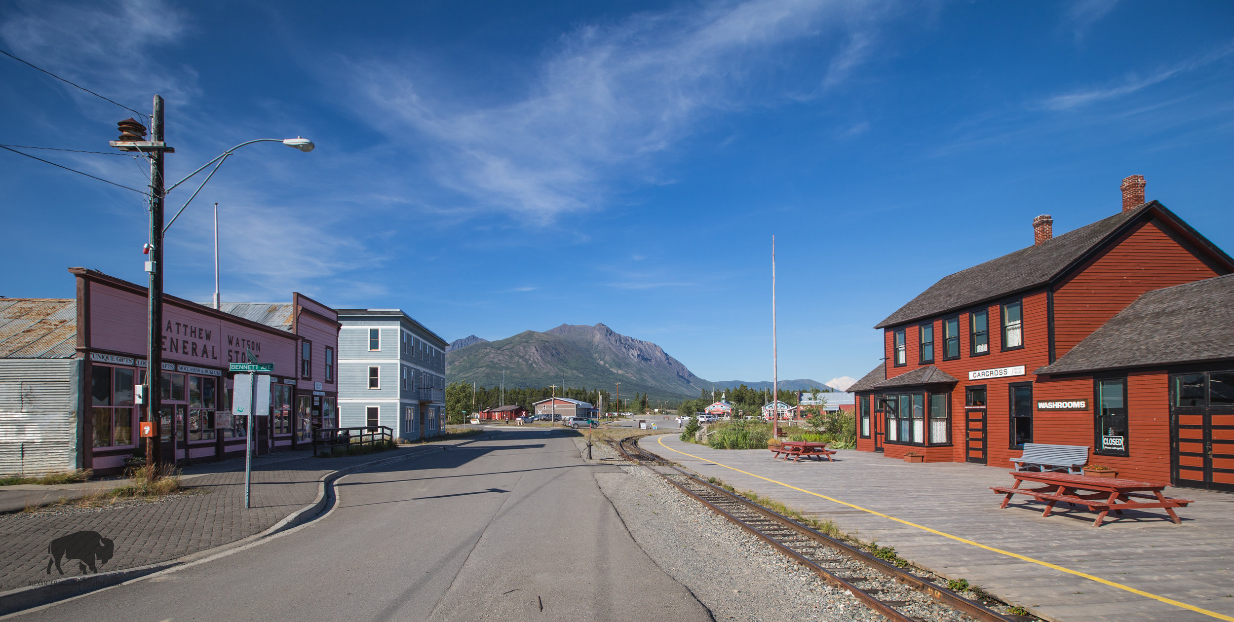 The town of Carcross.