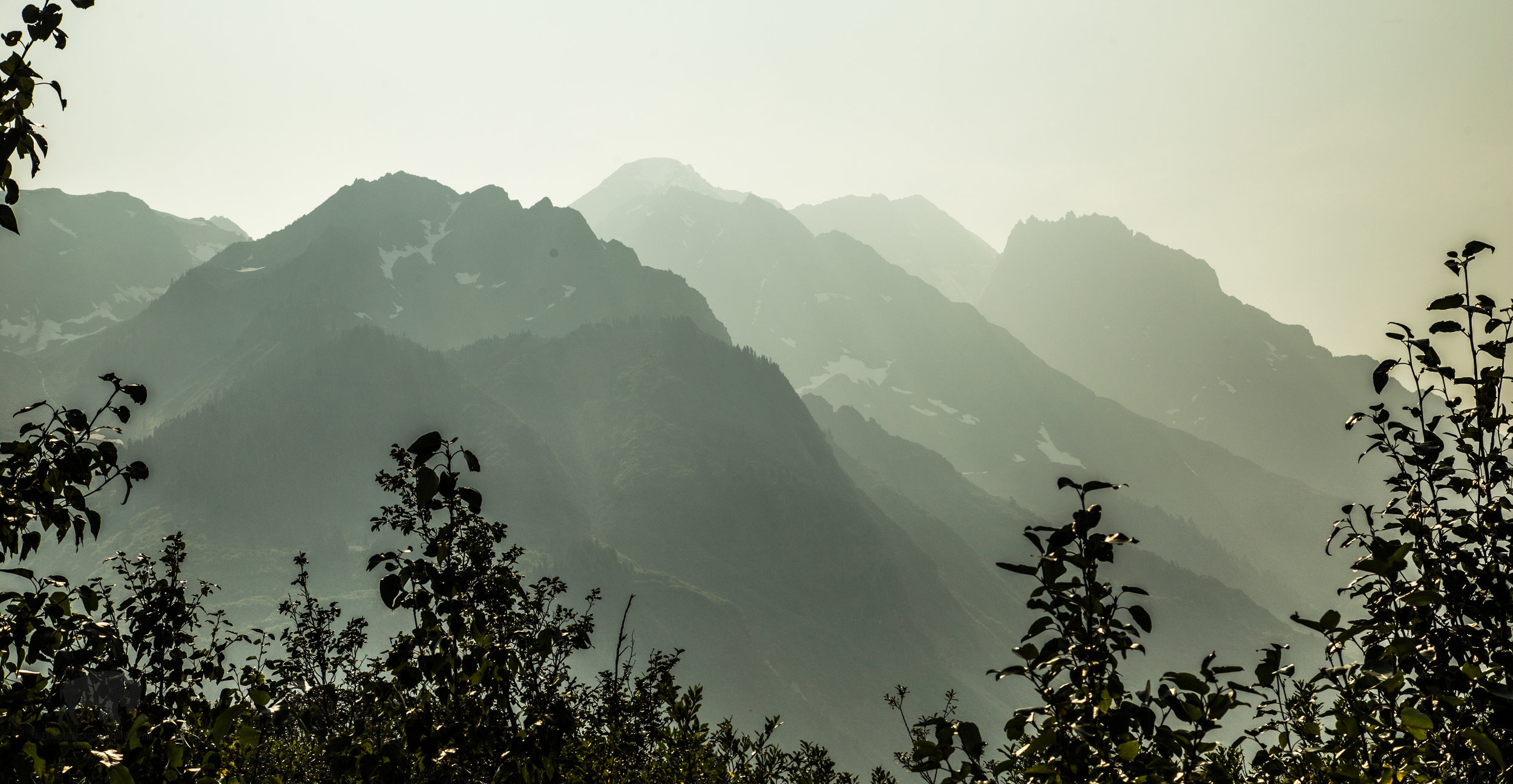 A little haze from local forest fires making for some interesting views.