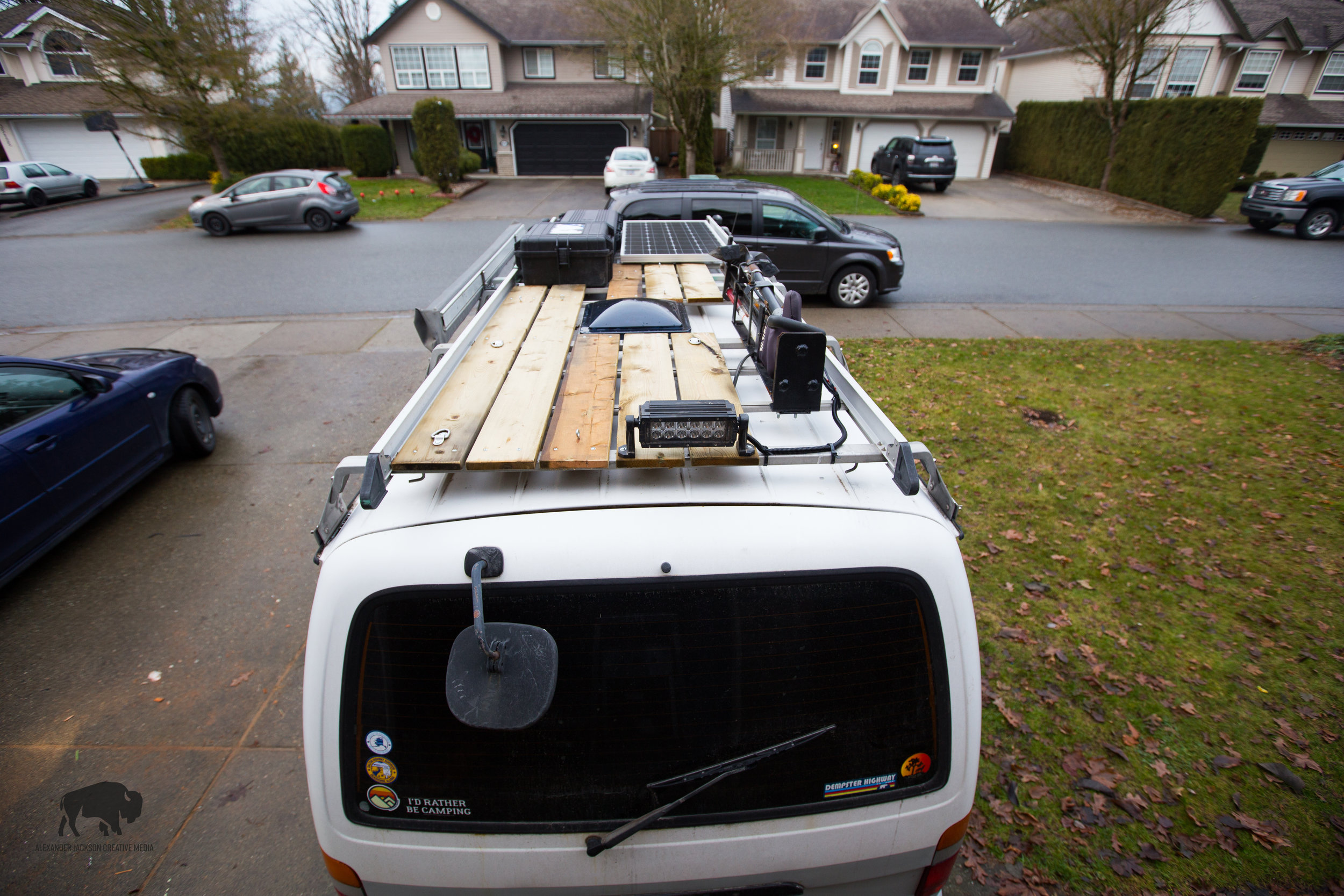 Last, but not least, I have a deck on the top of the van now! Huzzah!