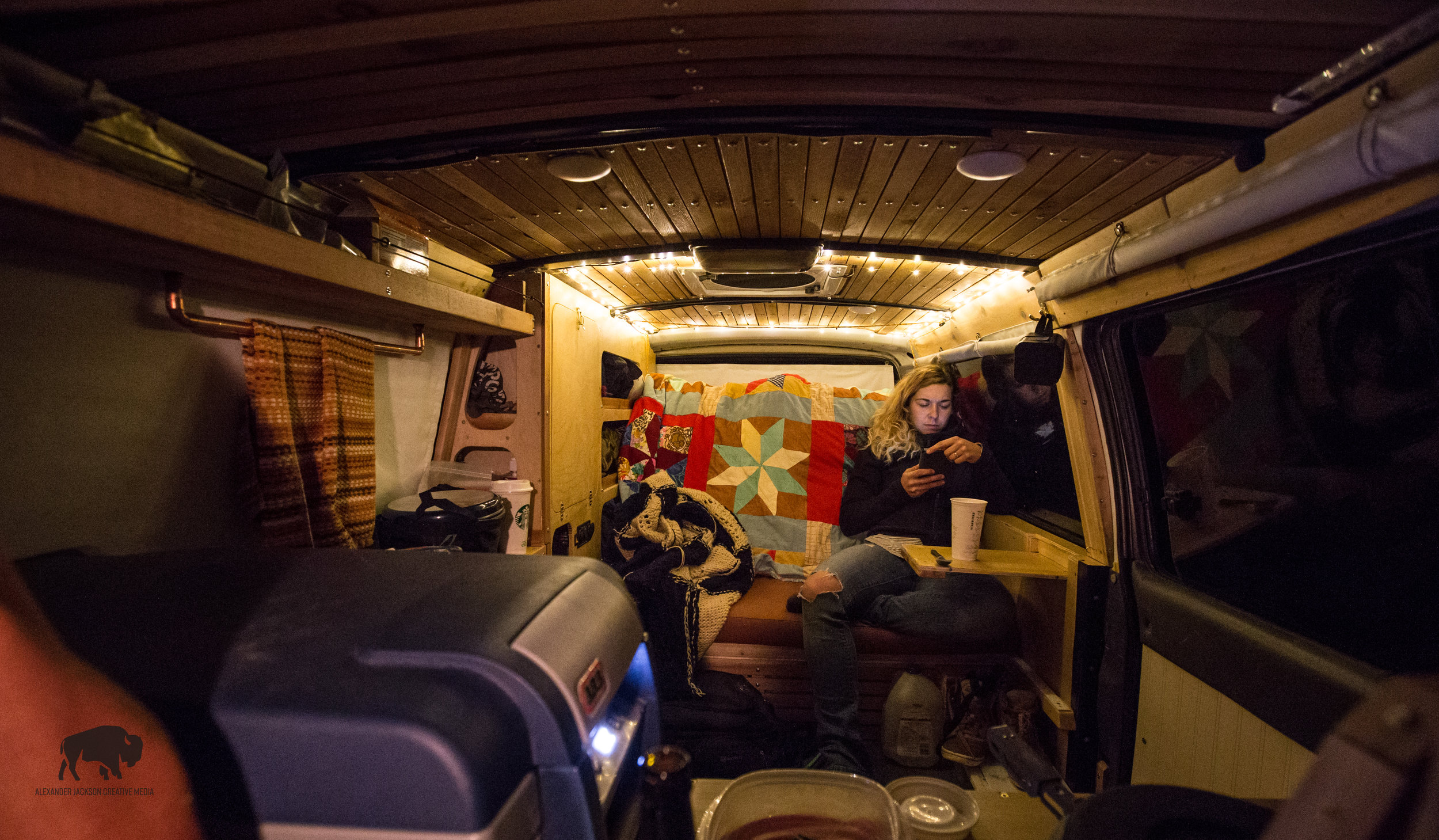 Evening chills in the van look a little like this.