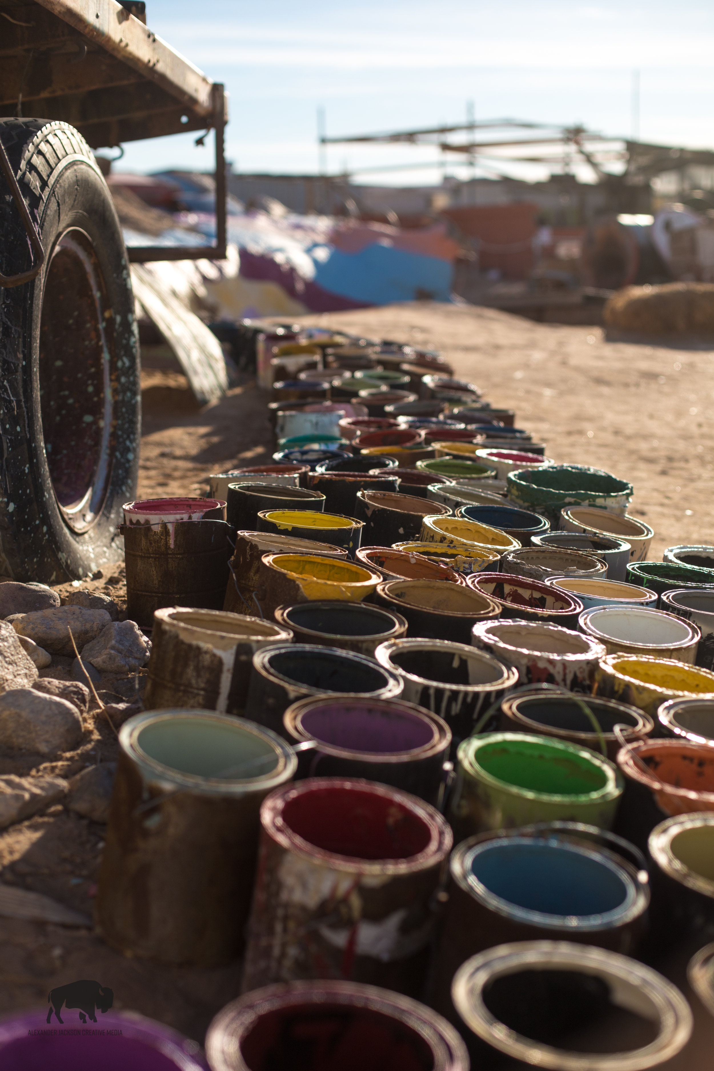 If you're looking for a little color in your life, go to Salvation Mountain.