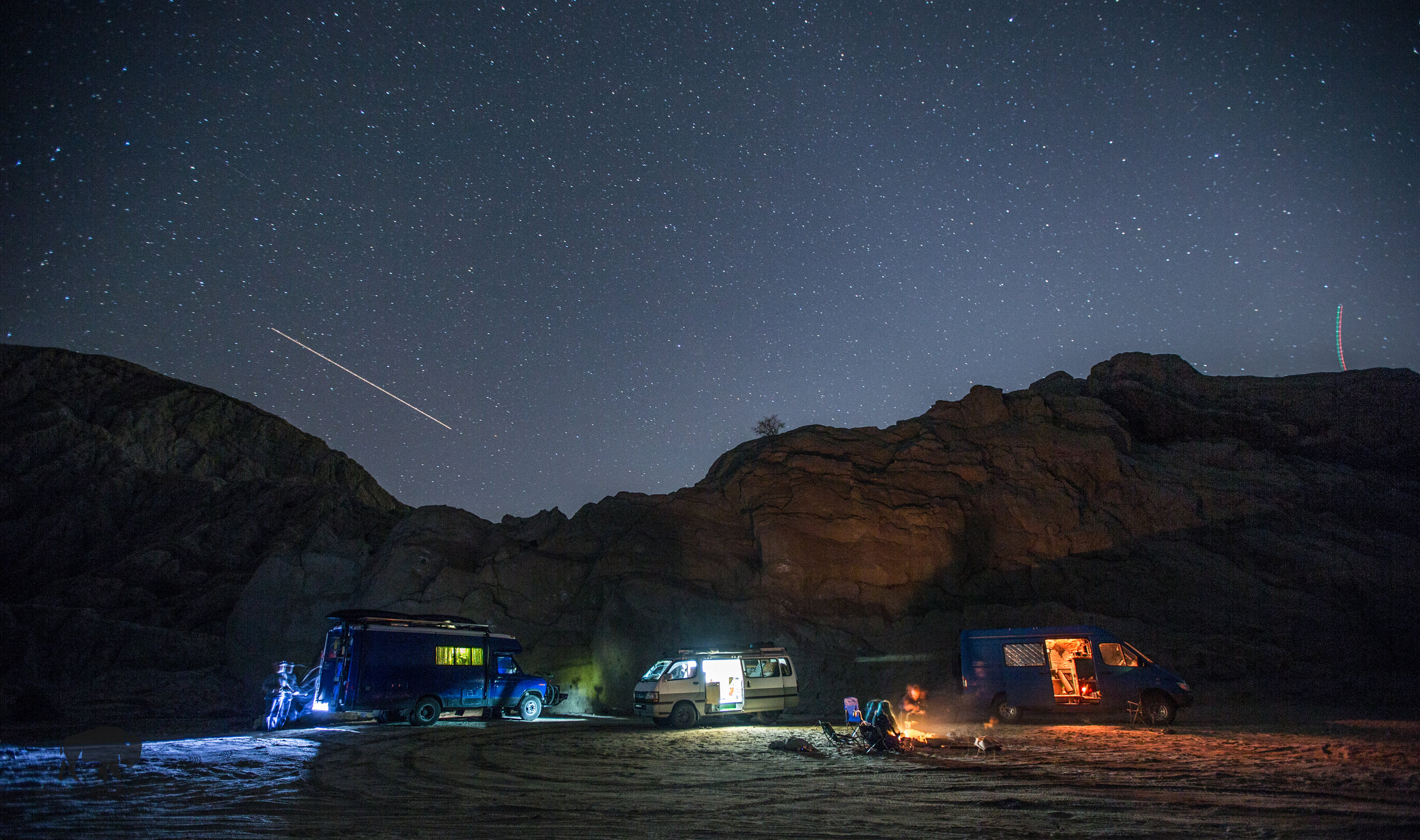 We all spent the night together in Painted Canyon and enjoyed many beers, conversation and shared stories.